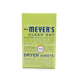 Mrs. Meyer's Clean Day Dryer Sheets, Lemon Verbena