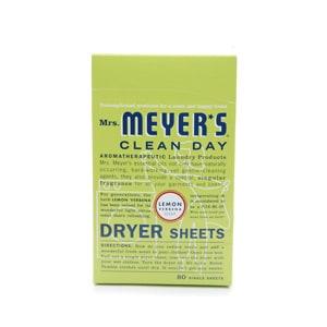 Mrs. Meyer's Clean Day Dryer Sheets, Lemon Verbena- 80 ea