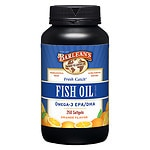 Barlean's Organic Oils Fresh Catch Fish Oil Omega-3 EPA/DHA 1000mg Softgels, Orange
