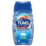 Tums Smoothies Antacid/Calcium Supplement, Chewable Tablets, Berry Fusion- 60 ea