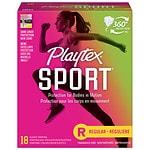 Playtex Sport Tampons, Unscented, Regular, 18 ea