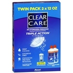Clear Care Triple Action Cleaning 3% Hydrogen Peroxide Cleaning &amp; Disinfecting Solution