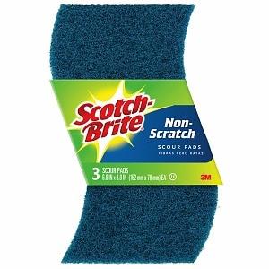 Scotch-Brite Non-Scratch Scour Pads- 3 ea