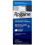 Men's Rogaine Extra Strength 5% Minoxidil Topical Foam Hair Regrowth Treatment, 1 month supply, 2.11 oz