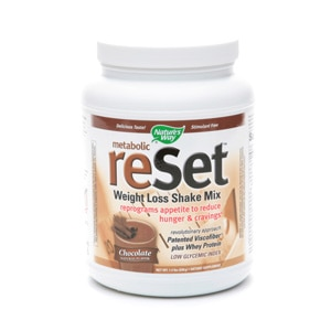 Nature's Way Metabolic Reset Weight Loss Shake Mix, Chocolate- 22.4 oz