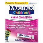 Mucinex Kids Chest Congestion Expectorant, Mini-Melts, Bubble Gum