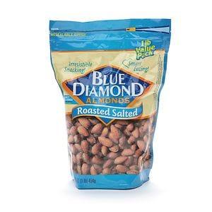 Blue Diamond Almonds, Roasted Salted- 16 oz