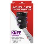 Mueller Sport Care Adjustable Knee Brace, Moderate Support, Model 6441, Black, One Size- 1 ea