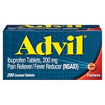 Advil Advanced Medicine for Pain, 200mg, Tablets- 200 ea