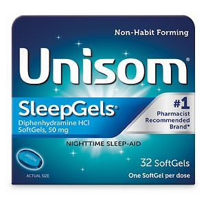Unisom SleepGels, Maximimum Strength Nighttime Sleep Aid, Softgels