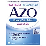 AZO Standard Urinary Pain Relief Tablets- 30 ea
