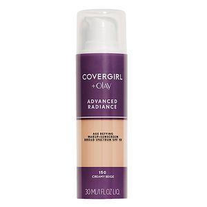 CoverGirl Advanced Radiance SPF 10 Age-Defying Sunscreen Makeup, Creamy Beige 150, 1 fl oz