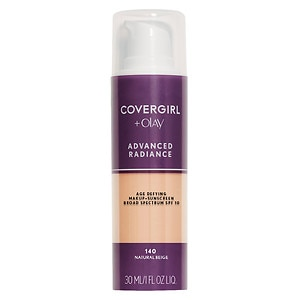 CoverGirl Advanced Radiance SPF 10 Age-Defying SPF Sunscreen Makeup, Natural Beige 140- 1 fl oz