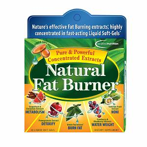 Applied Nutrition Natural Fat Burner, Liquid Soft-Gels- 30 ea