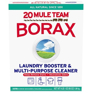 Borax and water floor cleaning solution