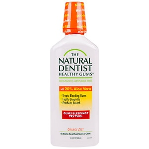 The Natural Dentist Healthy Gums Daily Oral Rinse, Orange Zest- 16.9 oz