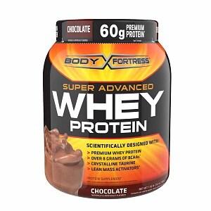 Body Fortress Super Advanced Whey Protein Powder, Chocolate- 1.95 lbs