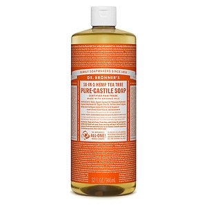 Dr. Bronner&#39;s 18-in-1 Hemp Pure-Castile Soap, Tea Tree, 32 fl oz