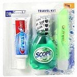 Dr. Fresh Travel Size Scope, Crest & Toothbrush