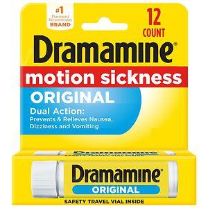 Dramamine Motion Sickness Relief, Original Formula, Tablets- 12 ea