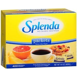 Splenda No Calorie Sweetener, Packets, 400 pk- .04 oz