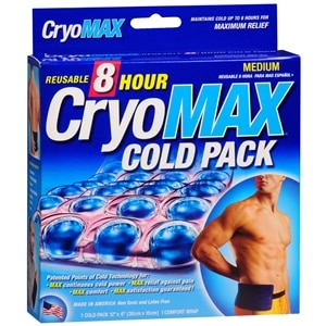 Cryo-Max Cold Pack with Flexible Straps, Reusable, Medium- 1 ea