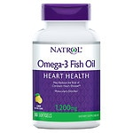 Natrol Omega 3 Fish Oil, 1200mg, Softgels, Lemon- 60 ea