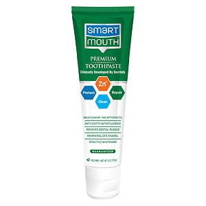 SmartMouth Advanced Clinical Formula 12 Hour Fresh Mouth Toothpaste with Fluoride, Clean Mint- 6 oz