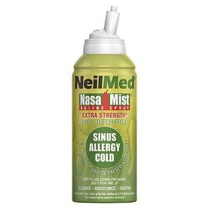 NeilMed Extra Strength NasaMist Saline Nasal Spray Drug Free Nasal Decongestant- 4.2 fl oz