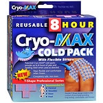 Cryo-Max Cold Pack with Flexible Straps, Reusable, T-Shape