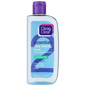 Clean & Clear Essentials Deep Cleaning Toner, Sensitive Skin- 8 fl oz
