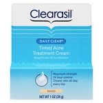 Clearasil Daily Clear Acne Treatment Cream, 10% Benzoyl Peroxide Medication, Tinted- 1 oz