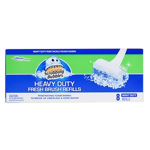 Scrubbing Bubbles Heavy Duty Fresh Brush Max Refills- 8 ea