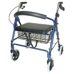 Duro-Med Rollator Bariatric Holds Up To 375 lbs, Royal Blue