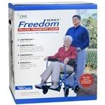 Duro-Med Folding Transport Chair Aluminum Ultra Light Weight,