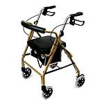 Duro-Med Ultra Light Rollator- Gold- 1 ea