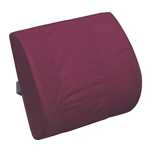 Duro-Med Lumbar Memory Cushion with Strap, Burgundy- 1 ea