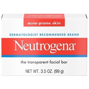Neutrogena Transparent Facial Bar, Acne-Prone Skin Formula Soap- 3.5 oz