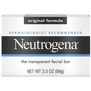Neutrogena Transparent Facial Bar, Face Wash & Cleanser, Original- 3.5 oz