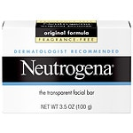 Neutrogena Transparent Facial Bar Soap, Face Wash & Cleanser, Fragrance Free- 3.5 oz