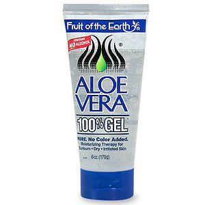 Fruit of the Earth Aloe Vera 100% Gel, Crystal Clear- 6 oz