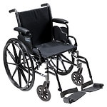 Drive Medical Cruiser III Lightweight Wheelchair w Flip Back Removable Desk Arms and Foot Rest, 18 Inch- 1 ea