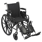 Drive Medical Cruiser III Lightweight Wheelchair w Flip Back Removable Desk Arms and Leg Rest, 18 Inch- 1 ea