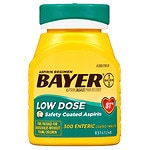 Bayer Low Dose Aspirin Pain Reliever, 81mg Enteric Coated Tablets- 300 ea