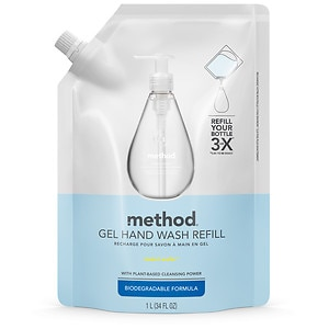 method Gel Hand Wash Refill, Sweet Water- 34 oz