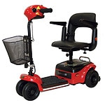 Shoprider Scootie 4 Wheel Scooter, Red