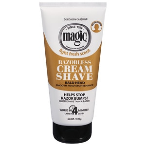 Magic Shave Razorless Cream Shave, Bald Head Smooth Head Maintenance, Light Fresh Scent