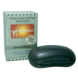 Out Of Africa Pure Shea Butter Bar Soap, African Black- 4 oz