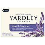 Yardley of London Savon Moisturizing Bar, 4.25 oz, English lavender with Essential Oils