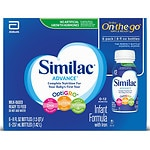 Similac Advance On-the-Go Infant Formula, Ready to Feed, 8 oz Bottles